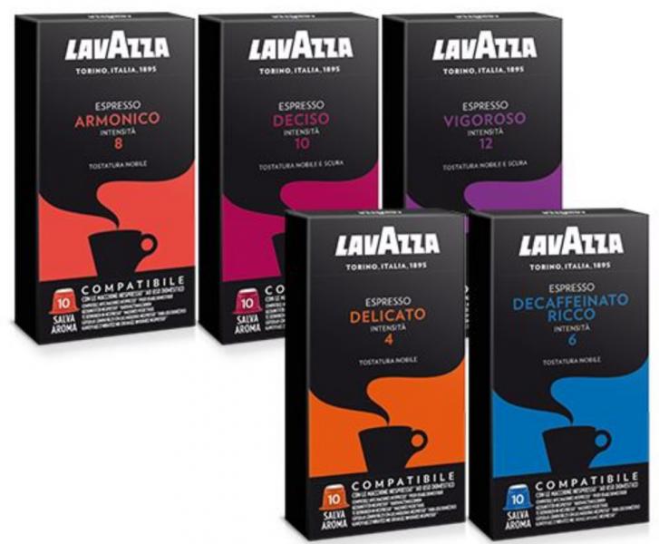 400 500 600 Capsule Caffè Lavazza Compatibili Nespresso Armonico Deciso Vigoroso