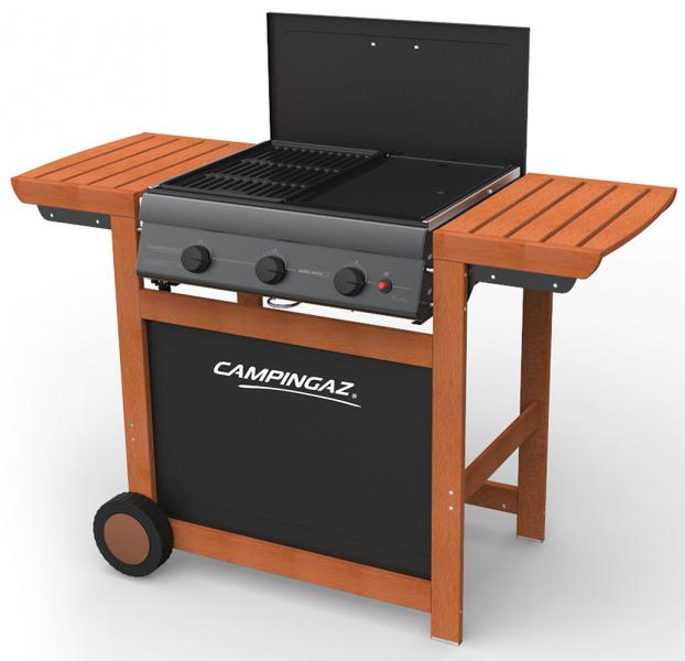 barbecue campingaz adelaide woody 3 nuovo modello 2017. Black Bedroom Furniture Sets. Home Design Ideas
